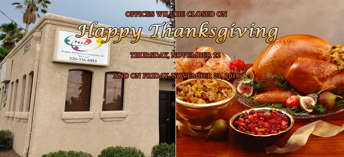 PHCC Office will be closed for Thanksgiving 2018